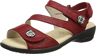 Padders Womens Vienna Ankle Strap Sandals, Red (Red Reptile), 4 UK 37 EU