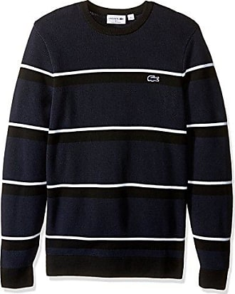 cb3314f60a98 Lacoste Mens Long Sleeve Made in France Pique Stitch Crewneck
