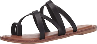 xoxo Womens Rodger Flat Sandal, Black, 6 UK