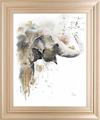Classy Art Water Elephant Framed Wall Art