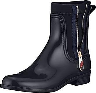0e493406a8fcbc Tommy Hilfiger Damen Material Mix RAIN Boot Gummistiefel Blau (Midnight  403) 41 EU