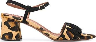 L'autre Chose Sandália com estampa de leopardo - Marrom