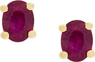 Wouters & Hendrix ruby stud earrings - PINK