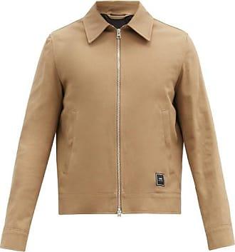 Ami Ami - Logo-patch Cotton-twill Jacket - Mens - Beige