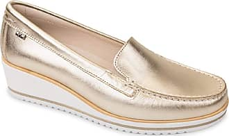 Valleverde 11209 Moccasins Wedge Slip-On Shoes Women in Gold Leather Gold Size: 4 UK
