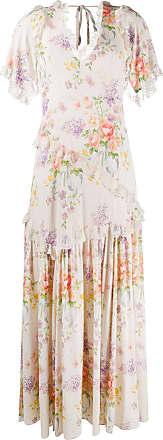 Needle & Thread Elsa floral print V-neck dress - White