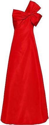 Sachin & Babi Sachin & Babi Woman Padma Bow-embellished One-shoulder Silk-faille Gown Red Size 10