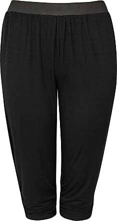 Yours Clothing Clothing Womens Cropped Harem Trousers Size 26-28 Black