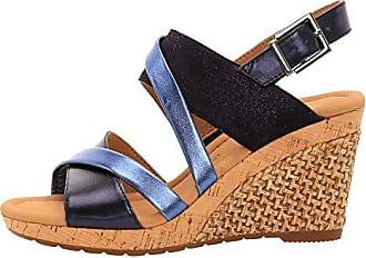 Tamaris Damen Sandalen Blau (Metallic), Schuhgröße:EUR 39