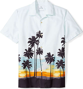 Marchio 28 Palms Relaxed-Fit 100/% Cotton Tropical Hawaiian Shirt Uomo