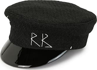 Ruslan Baginskiy stitch logo baker boy hat - Preto