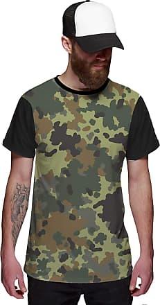 Di Nuevo Camiseta Camuflada Exército Verde Exclusiva