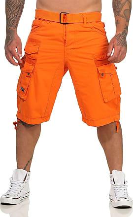 Geographical Norway Mens Shorts - Orange - XX-Large