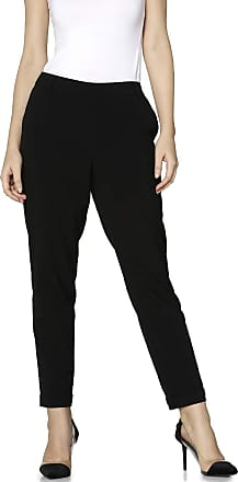 Only Womens Onlfini Pull Up Pants Tlr Trousers, Black (Black Black), 12 (Manufacturer Size: 40)