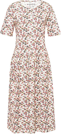 Peter Hahn Jersey dress in 100% cotton short sleeves Green Cotton multicoloured