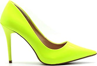 Royalz Scarpin Royalz Verniz Neon Fluorescente Penélope Amarelo