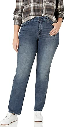 NYDJ Womens Plus Size Marilyn Straight Leg Jeans, Lombard, 28W