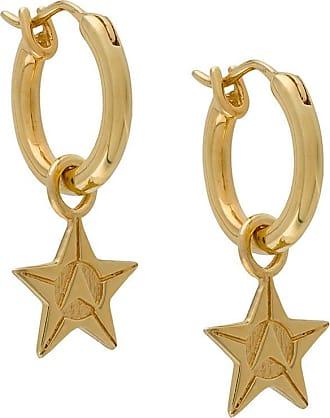 Northskull Par de brincos de argola com estrela - Dourado