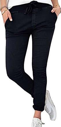 Hellomiko Long Casual Pants For Women- Comfortable Elastic Waist Slim Fit Trousers Fashion Pure Color High Waist Sports Pants