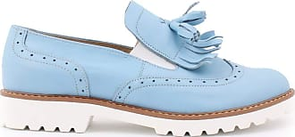 Zapato Womens Leather Oxford Shoes Model 247 Blue