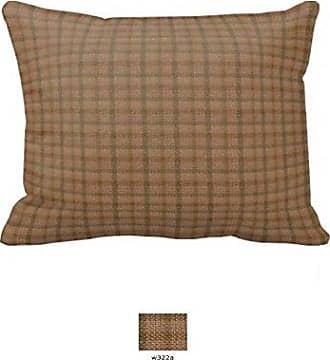 Patch Magic Fabric 27-Inch by 21-Inch Pillow Sham, Brown Light Checks
