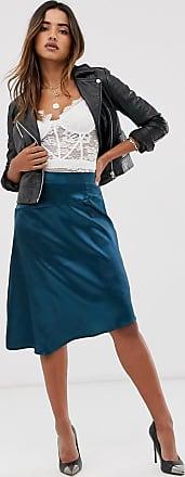 Unique21 Unique21 satin asymmetric skirt-Blue