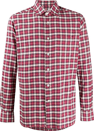 Kiton checked cotton shirt - Red