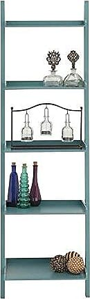 UMA Enterprises Inc. Deco 79 Wood Leaning Shelf, 20 by 69-Inch, Teal Blue