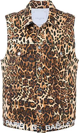 Gaëlle Paris Giacca smanicata leopardata - Color Marrone fb6ac6b8ba0