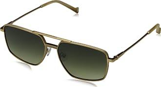 Hackett Mens Bespoke Sunglasses, Gold/Green, 55