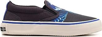 Marcelo Burlon Fashion Man CMIA079E20FAB0011043 Grey Fabric Slip On Sneakers   Fall Winter 20