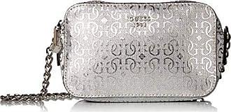 Guess Tabbi Pins Metallic Mini Crossbody Camera, Silver