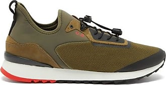 Orlebar Brown Byron Mesh And Neoprene Trainers - Mens - Khaki