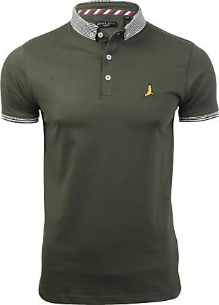 Brave Soul Mens MTS-GloverB Polo Shirt Khaki - Medium