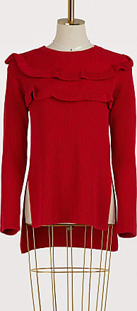 Red Valentino Sweater with ruffles