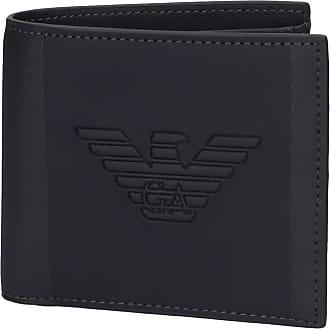 Emporio Armani Armani Mens Faux Leather Maxi Logo Wallet One Size Navy