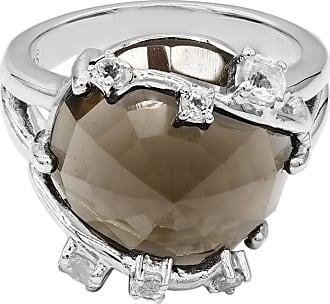 Juwelo Rauchquarz Ring Silber Quarz Schmuck Quarz Gelb