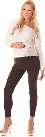 Purpless Maternity Leggings Pregnancy Belly Support Stretchy Long Over Bump Cotton Trousers for Pregnant Women 1000 (8, Brown)