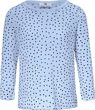 Peter Hahn Round neck jumper 3/4-length sleeves Peter Hahn blue