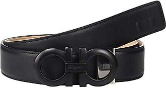 Salvatore Ferragamo Adjustable Belt - 67A009 (Black) Mens Belts
