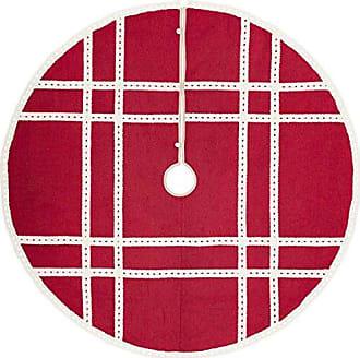 VHC Brands Holiday Decor - Margot Red Tree Skirt, 60