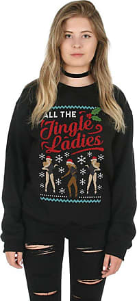 Sanfran Clothing Sanfran - All The Jingle Ladies Christmas Top Fashion Xmas Dancing Single Jumper Sweater - Double Extra Large/Black