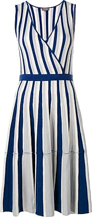 N.Peal Vestido envelope listrado - Azul