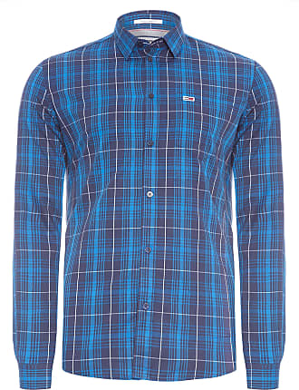 Tommy Jeans CAMISA MASCULINA ESSENTIAL CHECK POCKET - AZUL