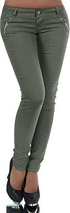 Damen Hose Treggings Leggings Stoffhose Freitzeithose Röhrenhose Hochbund N043