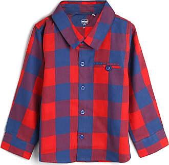 Tip Top Camisa Tip Top Infantil Xadrez Vermelho/Azul