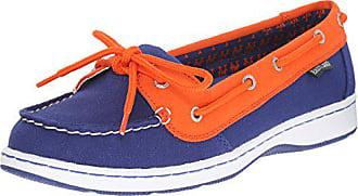 Eastland Womens Sunset MLB Mets Boat Shoe, Blue, 8.5 M US