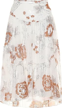 See By Chloé Floral silk and cotton midi skirt