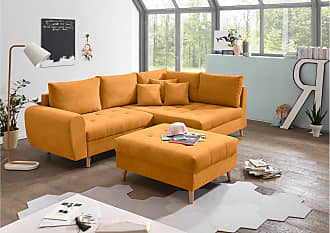 Stylefy North Dakota Ecksofa Rechts Orange