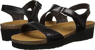Naot Pamela (Black Madras Leather) Womens Sandals